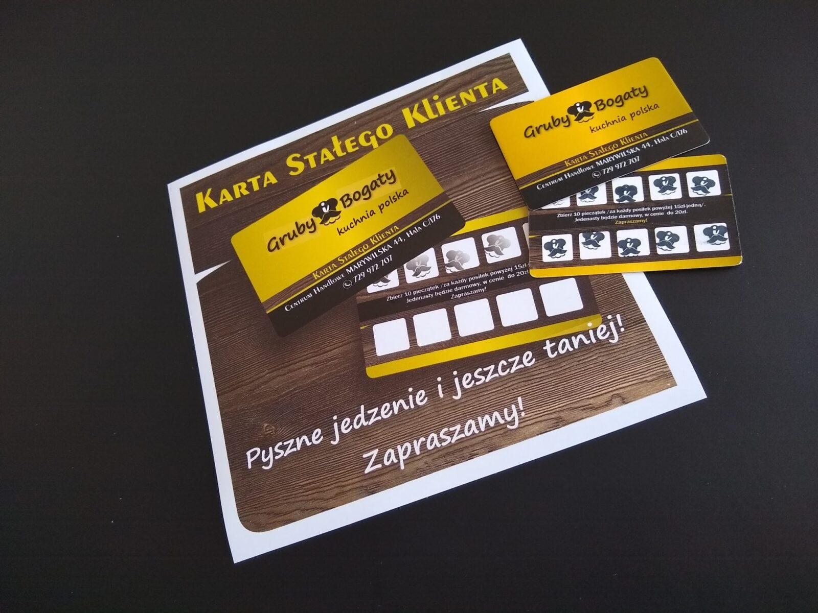 Karty stałego Klienta, wizytówki