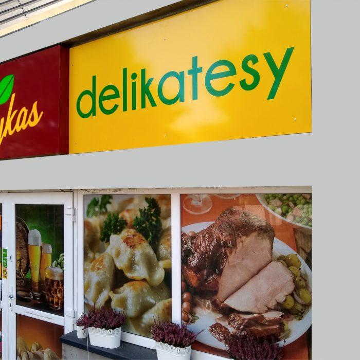 Oznakowanie sklepu spożywczego