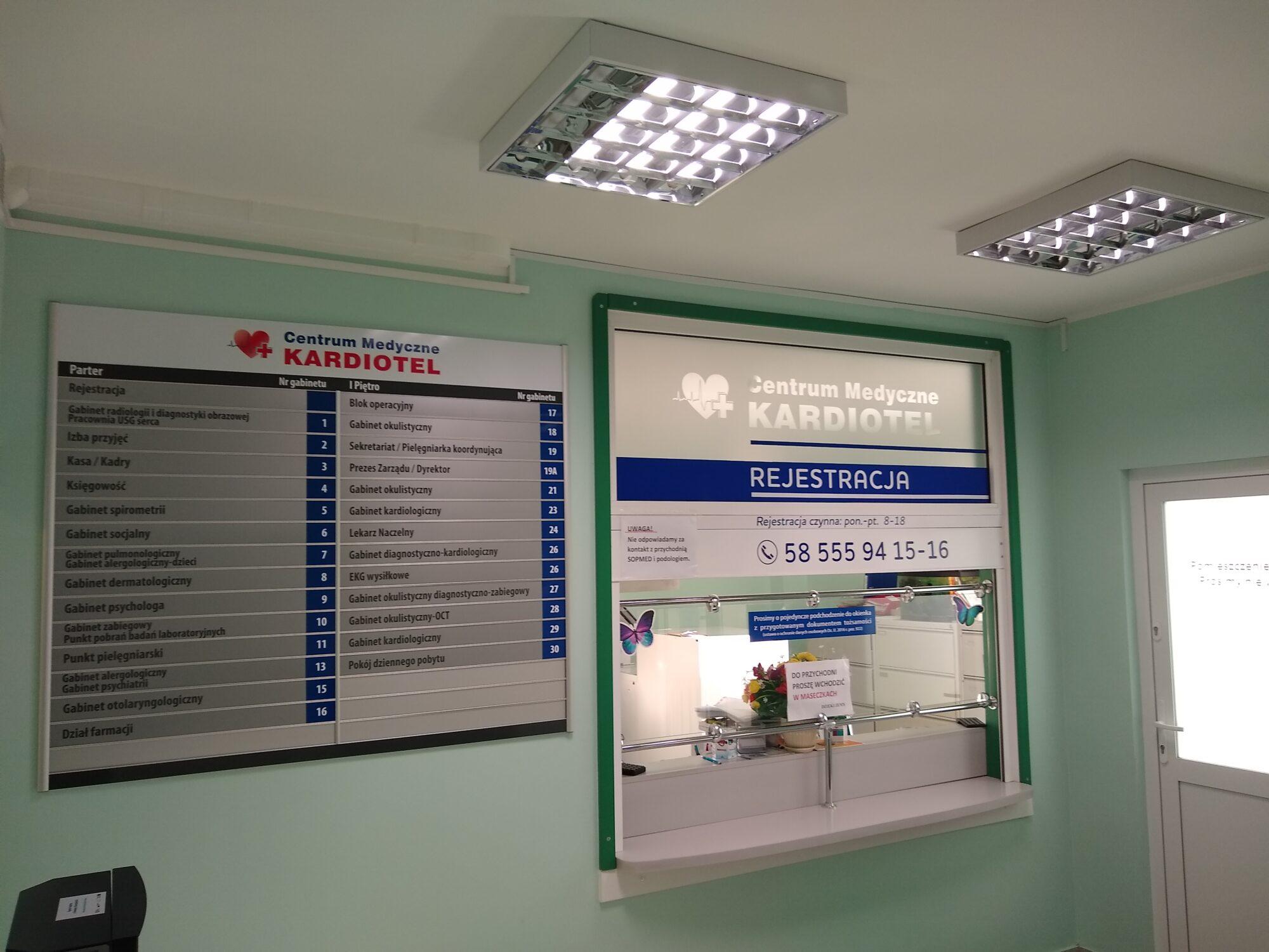 Oznakowanie Centrum Medycznego